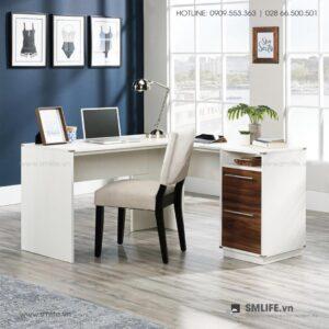 Bàn làm việc, bàn học gỗ hiện đại Drew (1)