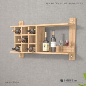 Kệ rượu gỗ hiện đại Andexen