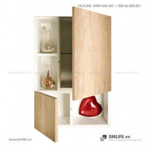 Kệ khăn tắm, mỹ phẩm gỗ hiện đại Calum (1)