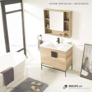 Kệ khăn tắm, mỹ phẩm gỗ hiện đại Candice (1)