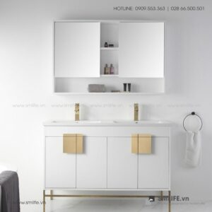 Kệ khăn tắm, mỹ phẩm gỗ hiện đại Casper (1)