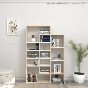 Kệ sách, kệ trang trí gỗ hiện đại Brigette (1)