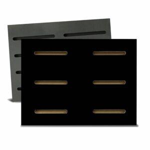 Tấm gỗ xẻ rãnh Dash Panel - Đen (1)