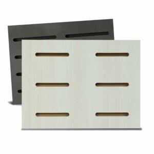 Tấm gỗ xẻ rãnh Dash Panel - Trắng ngà (1)