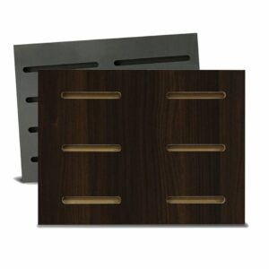 Tấm gỗ xẻ rãnh Dash Panel - Walnut đậm (1)