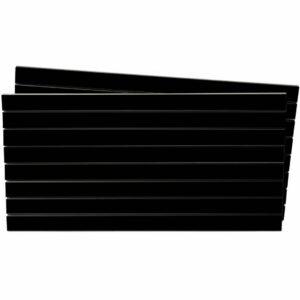 Tấm gỗ xẻ rãnh Slatwall - Đen (1)