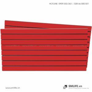 Tấm gỗ xẻ rãnh Slatwall - Đỏ (1)