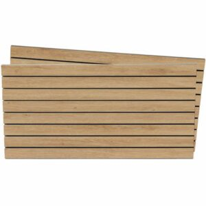 Tấm gỗ xẻ rãnh Slatwall - Vân Sồi (1)