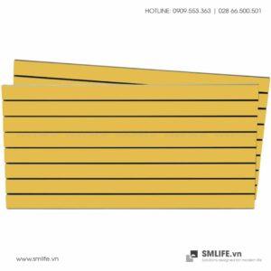 Tấm gỗ xẻ rãnh Slatwall - Vàng (1)