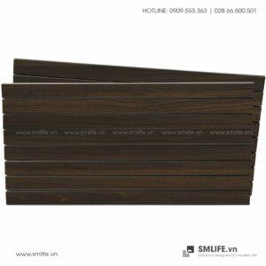 Tấm gỗ xẻ rãnh Slatwall - Walnut đậm (1)