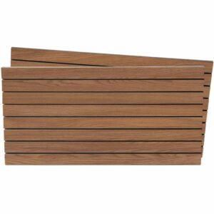 Tấm gỗ xẻ rãnh Slatwall - Walnut nhạt (1)