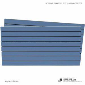 Tấm gỗ xẻ rãnh Slatwall - Xanh (1)