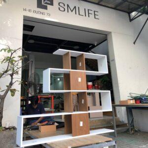 Kệ gỗ SMLIFE - Màu Walnut nhạt (9)