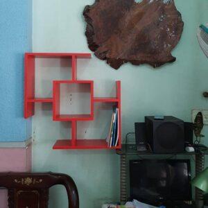 Kệ gỗ SMLIFE - Màu đỏ (1)