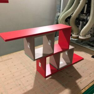 Kệ gỗ SMLIFE - Màu đỏ (3)