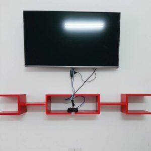 Kệ gỗ SMLIFE - Màu đỏ (4)