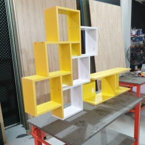 Kệ gỗ SMLIFE - Màu vàng (1)