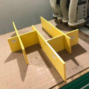 Kệ gỗ SMLIFE - Màu vàng (2)
