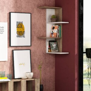 Kệ gỗ treo tường trang trí hiện đại Bowcott (8)