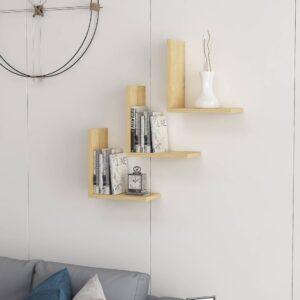SMLIFE | Kệ gỗ treo tường trang trí hiện đại Wesley