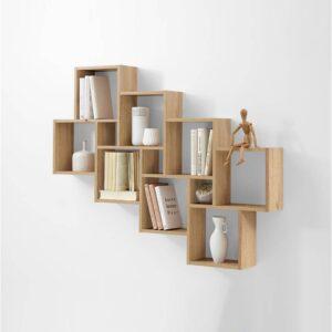SMLIFE | Kệ gỗ trang trí hiện đại RIKU SANJO