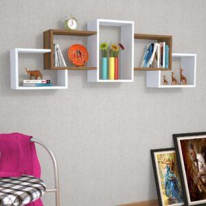Kệ gỗ treo tường trang trí hiện đại Welker (4)