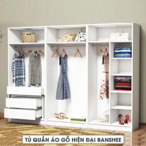 Tủ quần áo gỗ hiện đại Banshee (1.1)