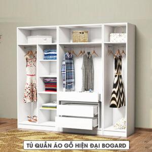Tủ quần áo gỗ hiện đại Bogard (1.1)