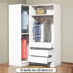 Tủ quần áo gỗ hiện đại Brocca (1.1)