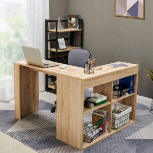 Bàn làm việc, bàn học gỗ hiện đại Daresu (1)