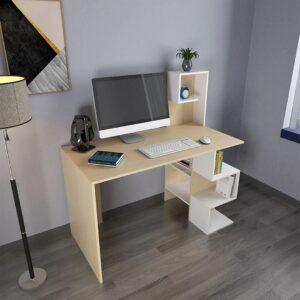 Bàn làm việc, bàn học gỗ hiện đại Darkside (1)