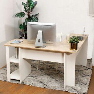 Bàn làm việc, bàn học gỗ hiện đại Darvell (1)
