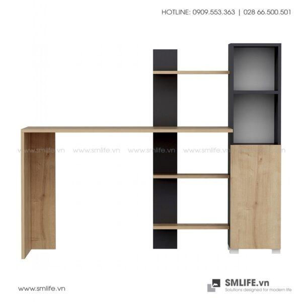 Bàn làm việc, bàn học gỗ hiện đại Delilah (3)