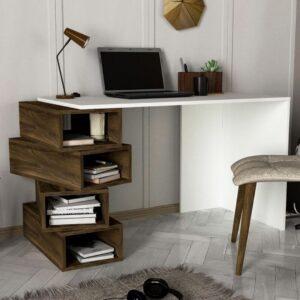 Bàn làm việc, bàn học gỗ hiện đại Devimon (1)