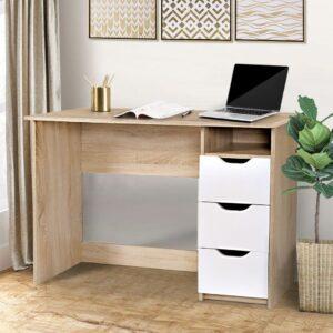 Bàn làm việc, bàn học gỗ hiện đại Dias (1)