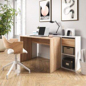 Bàn làm việc, bàn học gỗ hiện đại Doikaku (1)