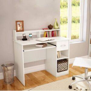 Bàn làm việc, bàn học gỗ hiện đại Domoto (1)