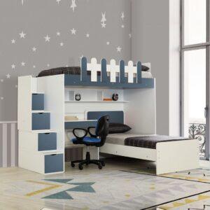 Giường tầng gỗ hiện đại cho bé Saovo (1)