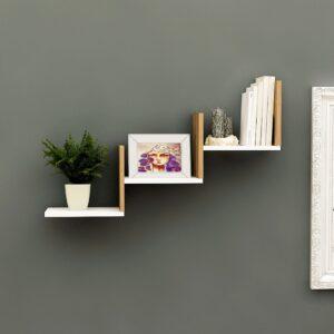 Kệ gỗ treo tường trang trí hiện đại Waximo (1)