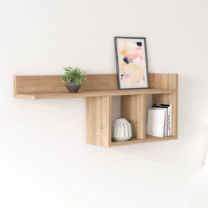 Kệ gỗ treo tường trang trí hiện đại Wizerio (1)