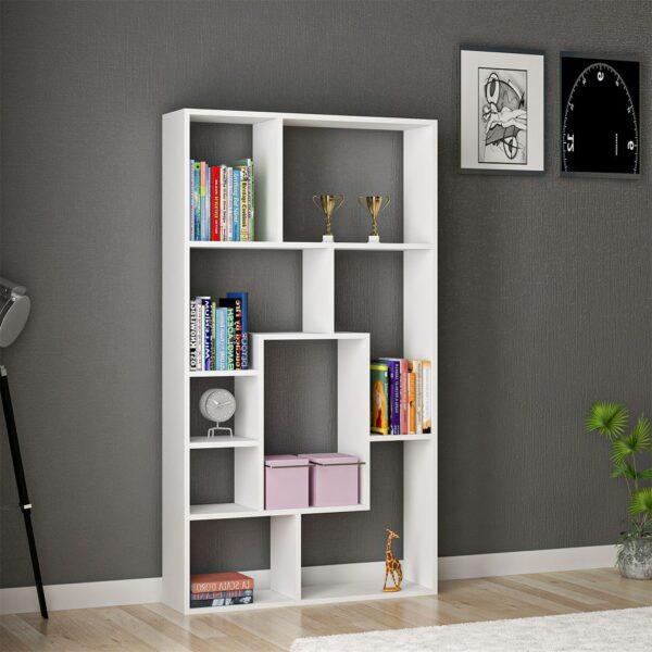 Kệ sách, kệ trang trí gỗ hiện đại Bianco (1)