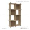 Kệ sách, kệ trang trí gỗ hiện đại Birding (2)