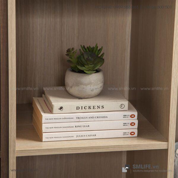 Kệ sách, kệ trang trí gỗ hiện đại Bleanish (10)