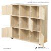 Kệ sách, kệ trang trí gỗ hiện đại Borkum (4)