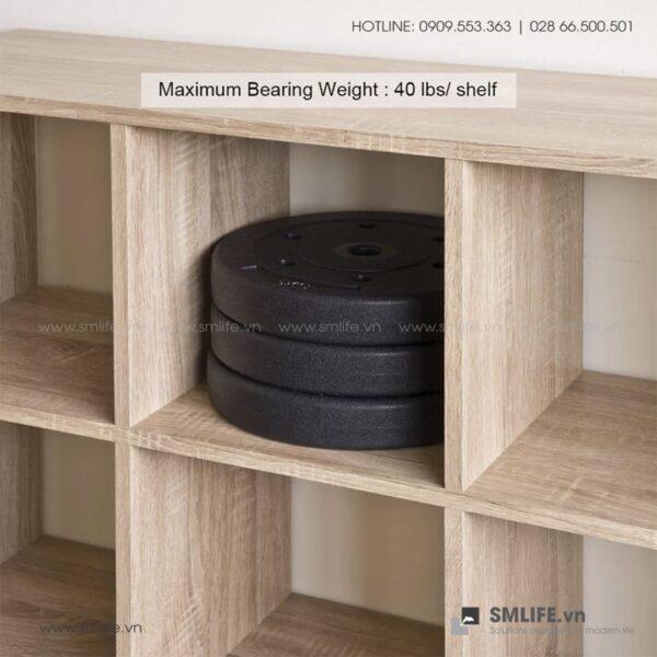 Kệ sách, kệ trang trí gỗ hiện đại Bunce (5)