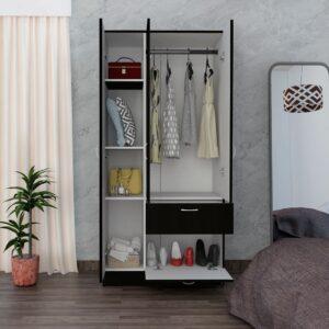 Tủ quần áo gỗ hiện đại Commex (1)